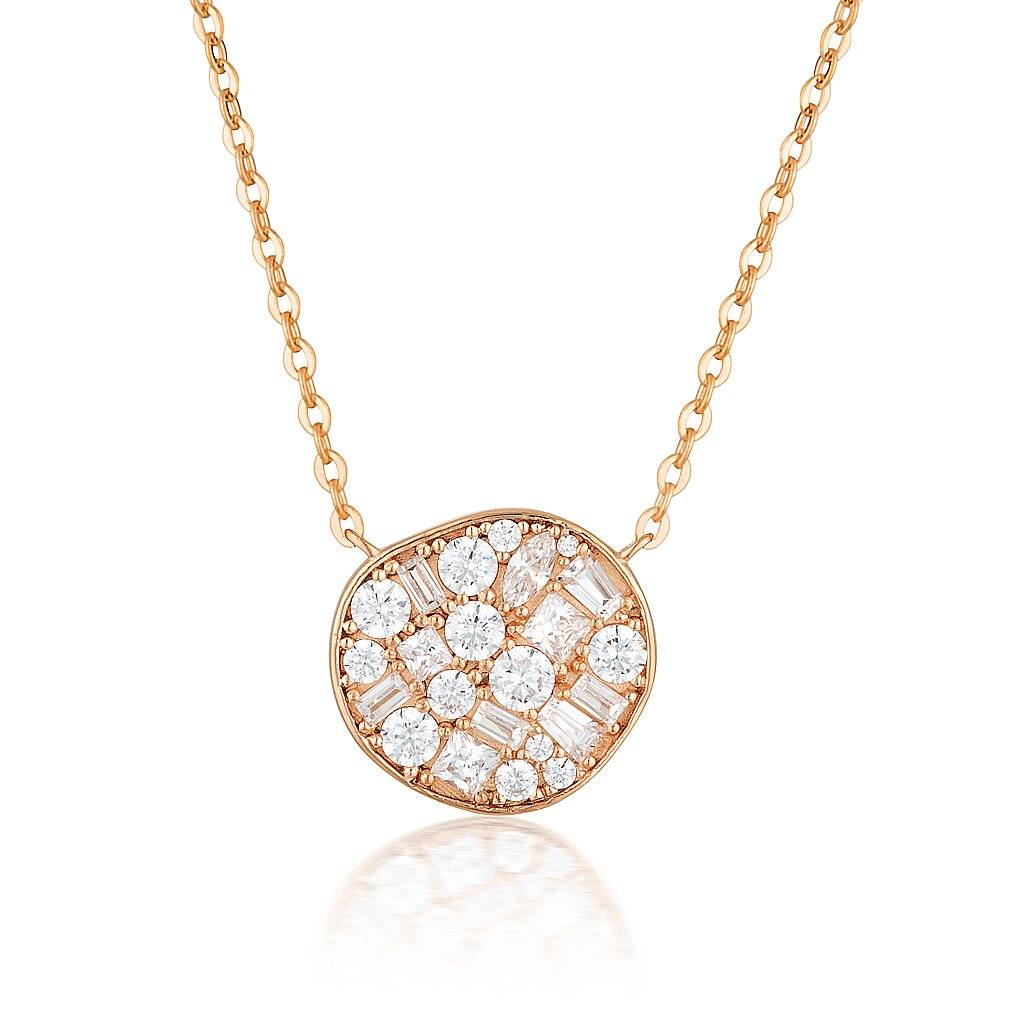 GEORGINI FILI LARGE MOSAIC ROSE GOLD PENDANT Bevilles Jewellers
