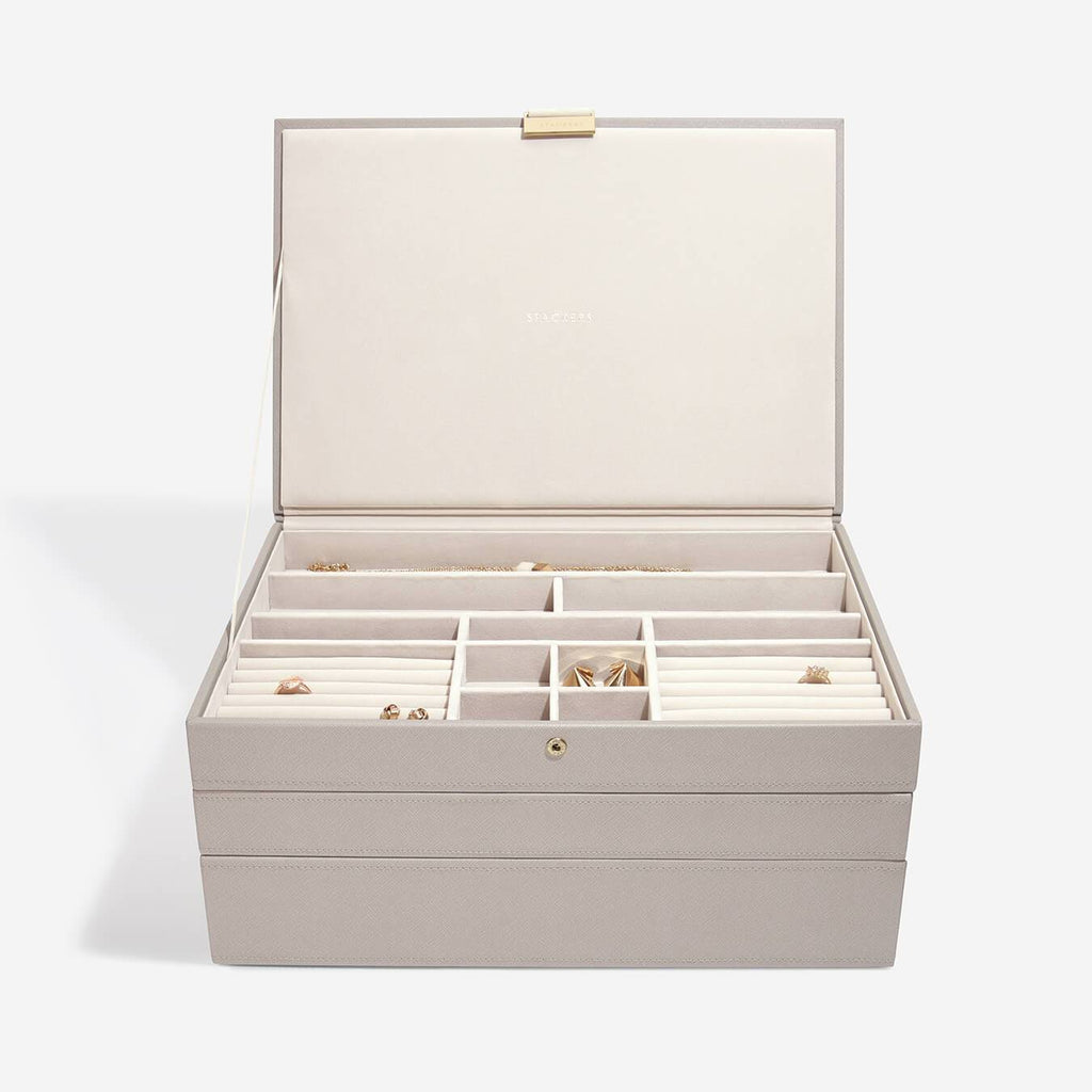 Stackers Supersized Jewellery Box Set 3 Jewellery Boxes Stackers