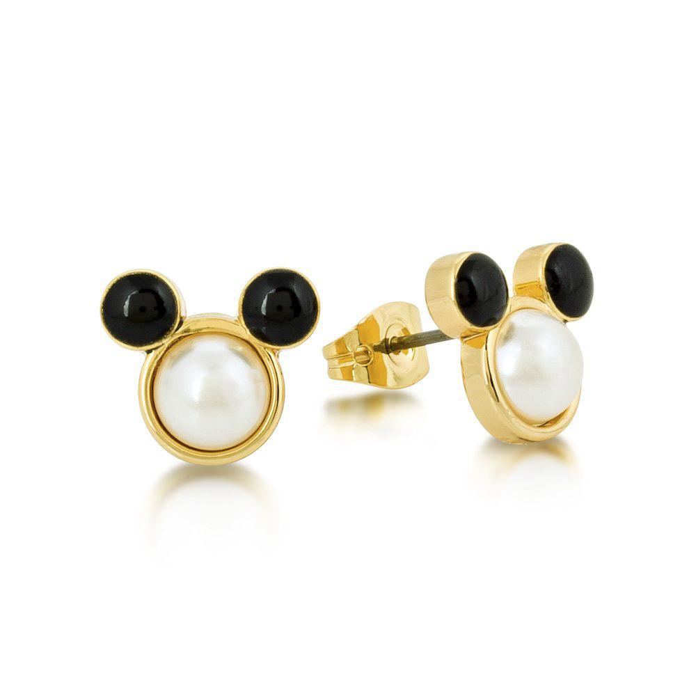 Disney Mickey Mouse Pearl Stud Earrings Earrings Disney by Couture Kingdom