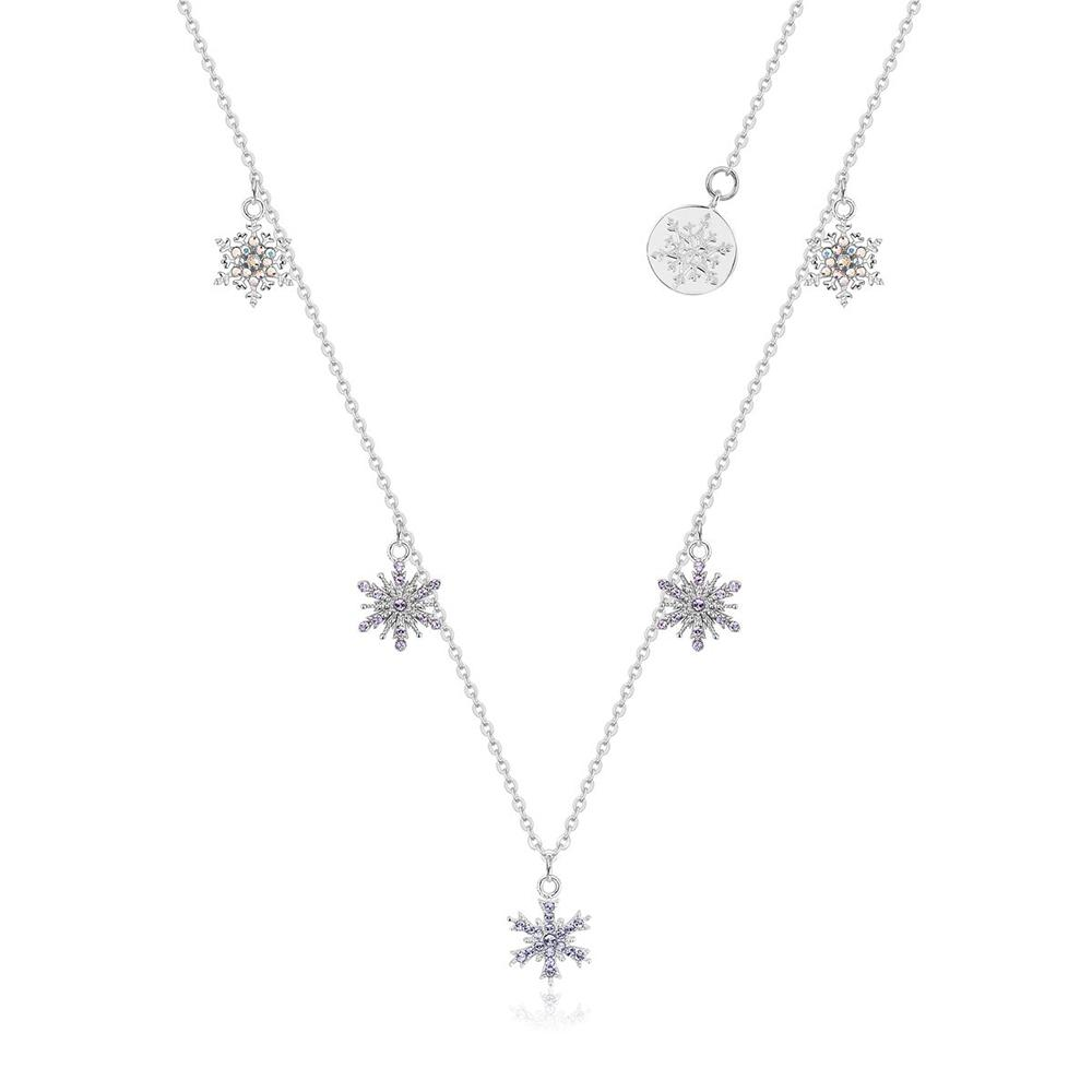 Disney Frozen II Crystal Snowflake Necklace Necklaces Disney by Couture Kingdom