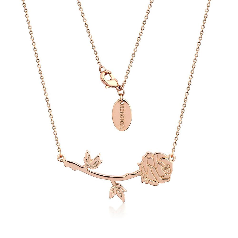 Disney Beauty and The Beast Rose Necklace Necklaces Disney by Couture Kingdom