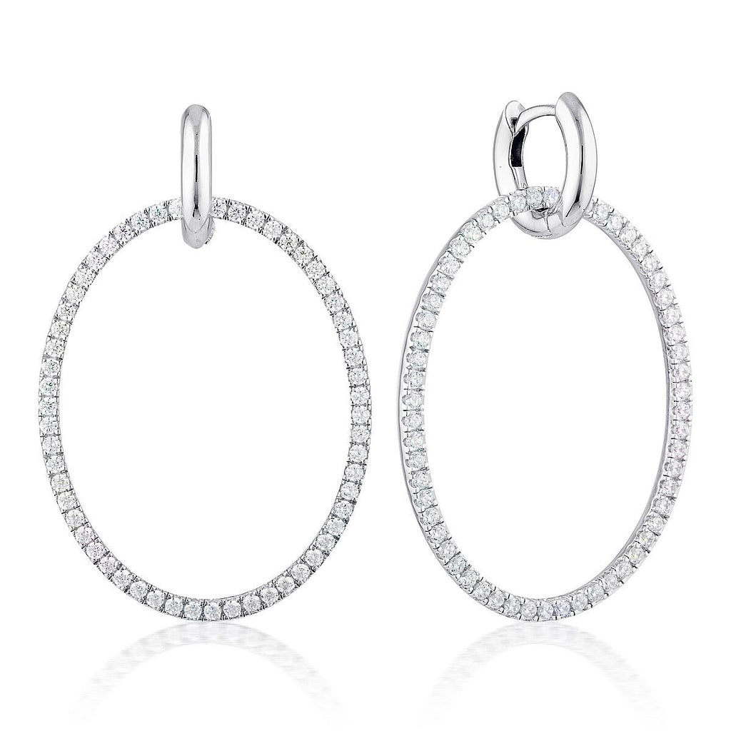 Georgini Julietta Oval Drop Earrings Bevilles Jewellers