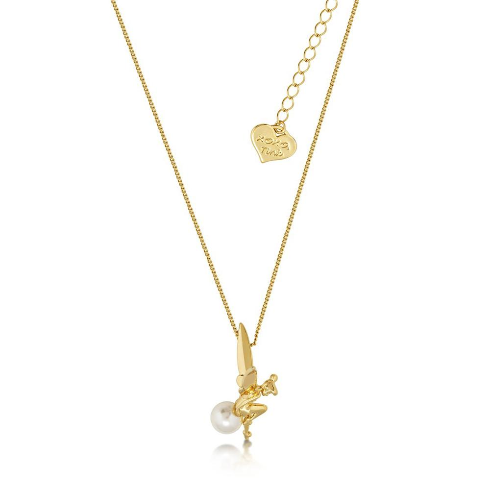 Disney Tinker Bell Pearl Gold Necklace Necklaces Disney by Couture Kingdom