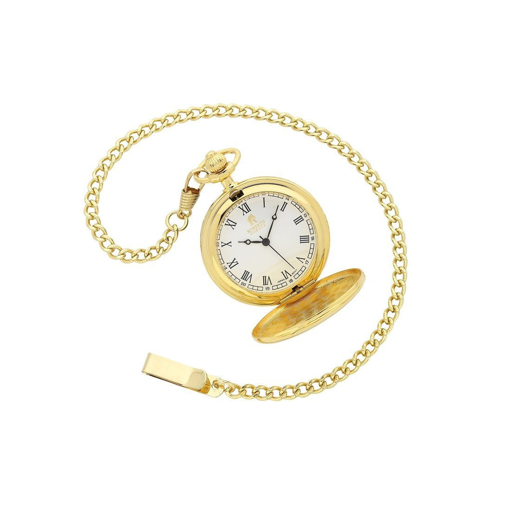 Roberto Carati Gold Quartz Pocket Watch