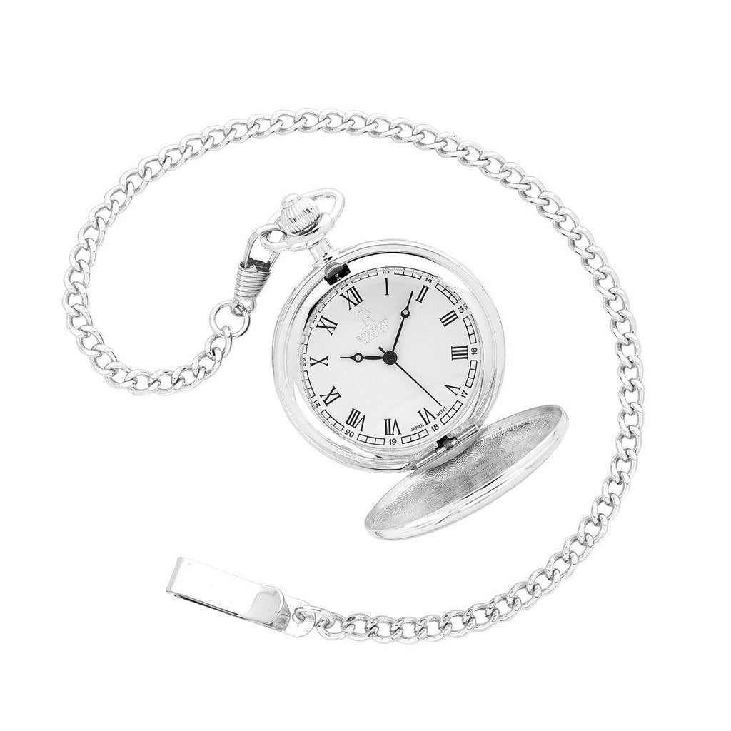 Robert Carati Silver Quartz Pocket Watch