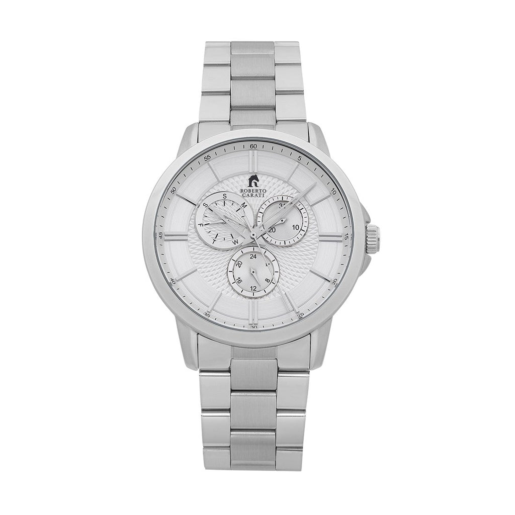 Roberto Carati Carter Silver Multifunction Watch