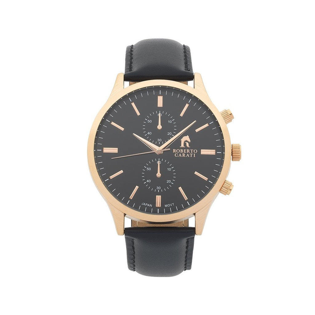 Roberto Carati Kobe Black Leather Watch Model AR750IPRG