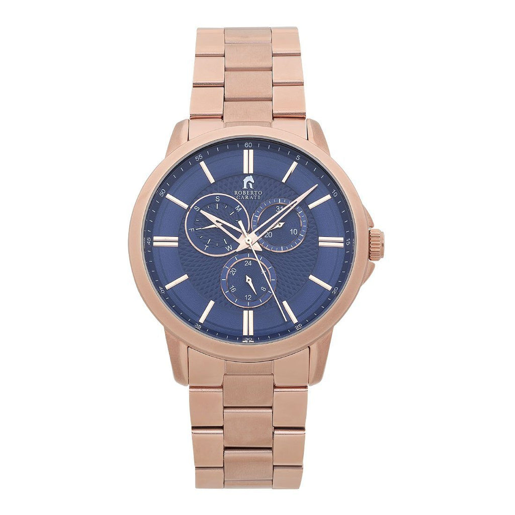 Roberto Carati Carter Multifunction Rose & Blue Watch Watches Roberto Carati