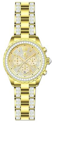 Roberto Carati Willow Crystal Gold Watch