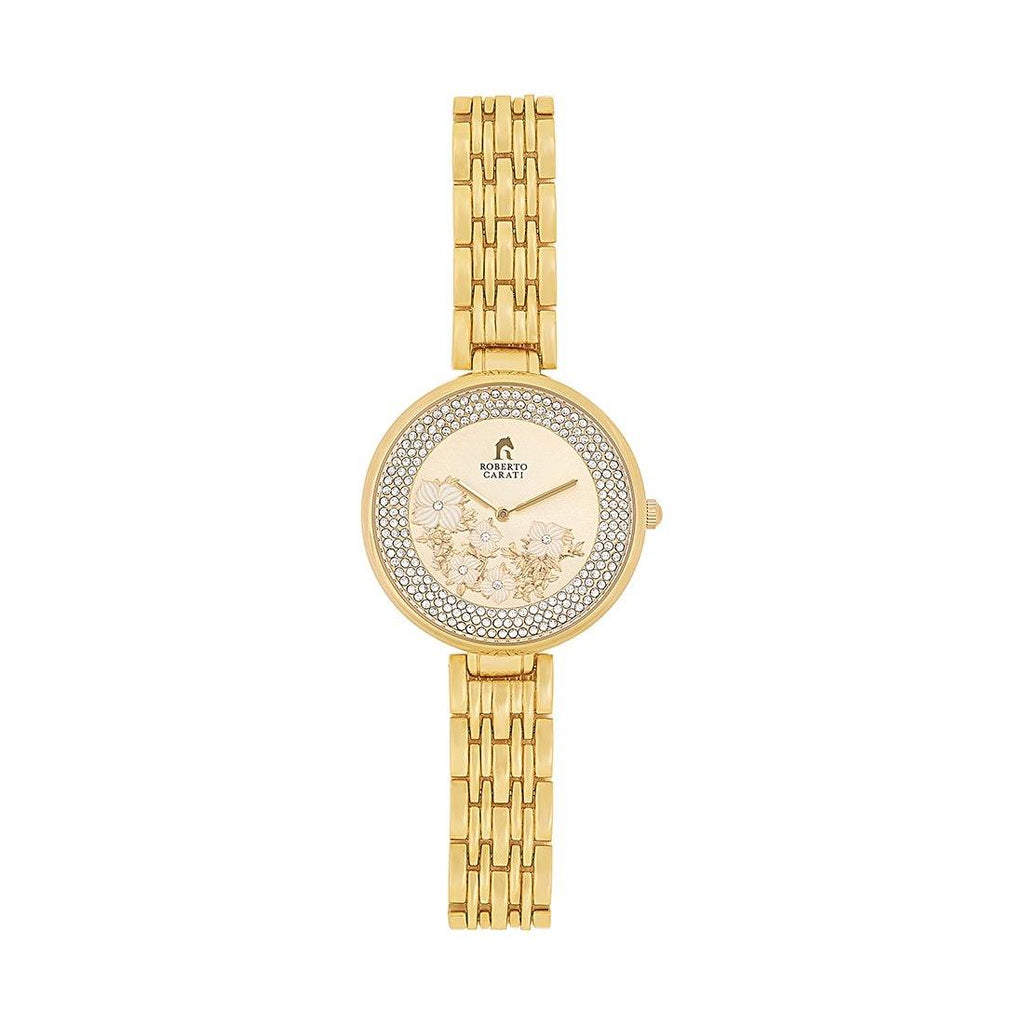 Roberto Carati Summer Gold and Crystal Watch M8103-V3 Watches Roberto Carati