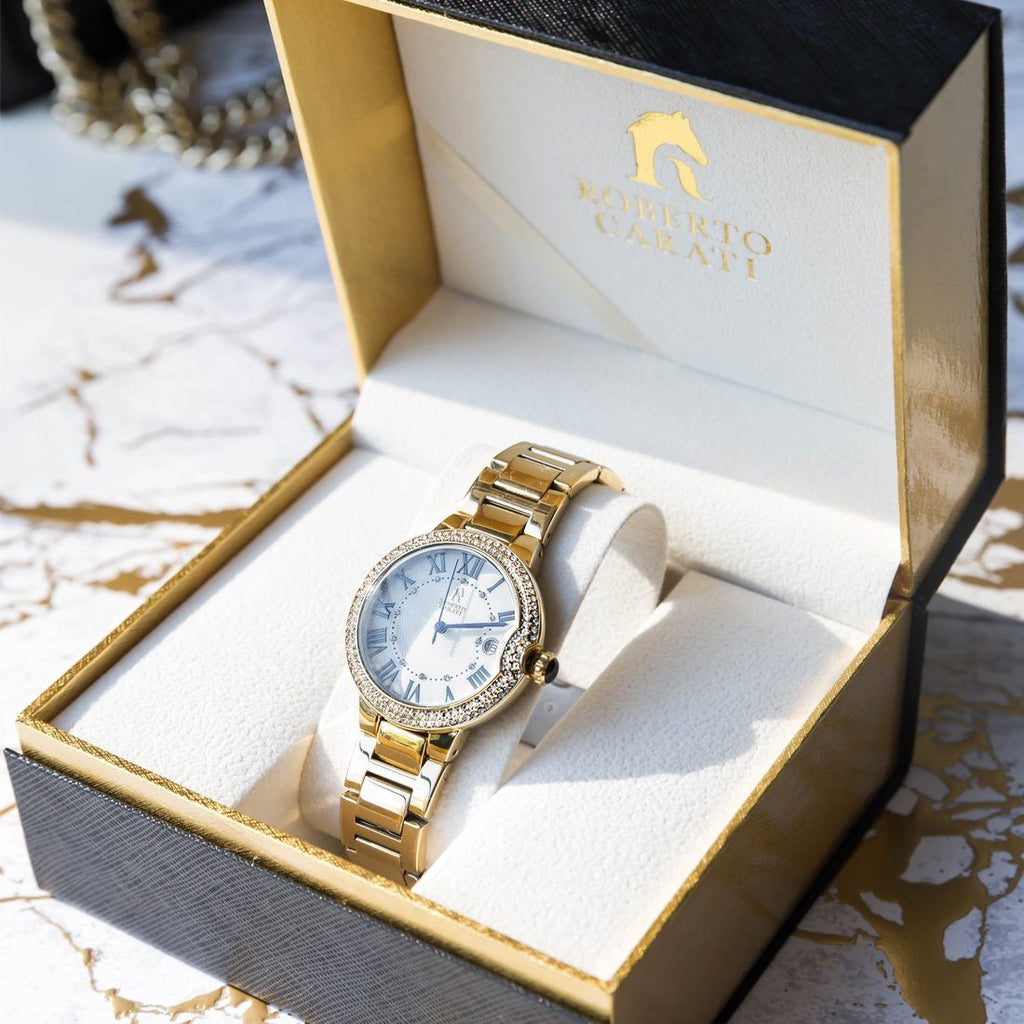 Roberto Carati Taylor Gold Stone Set Watch