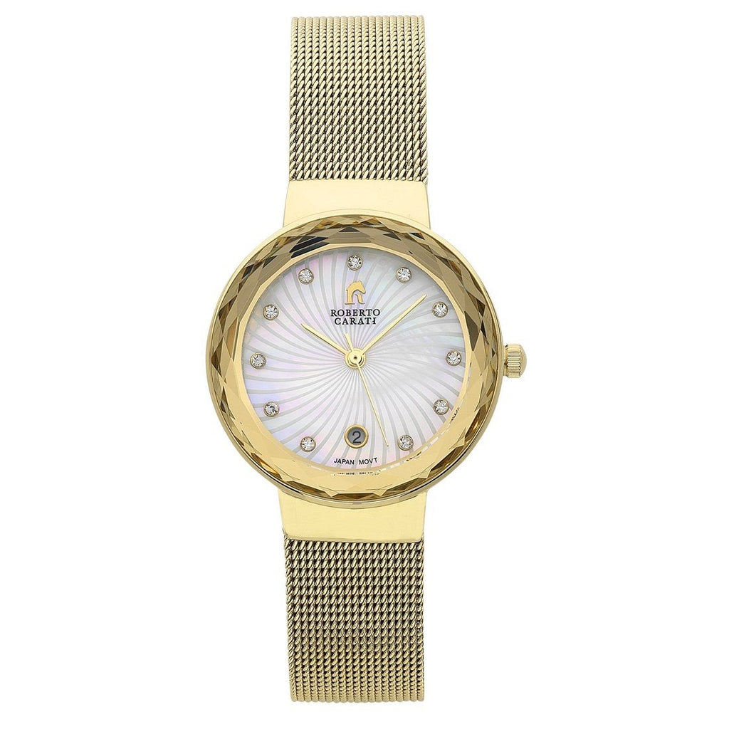 Roberto Carati Nora Gold Mesh Ladies Watch Watches Roberto Carati