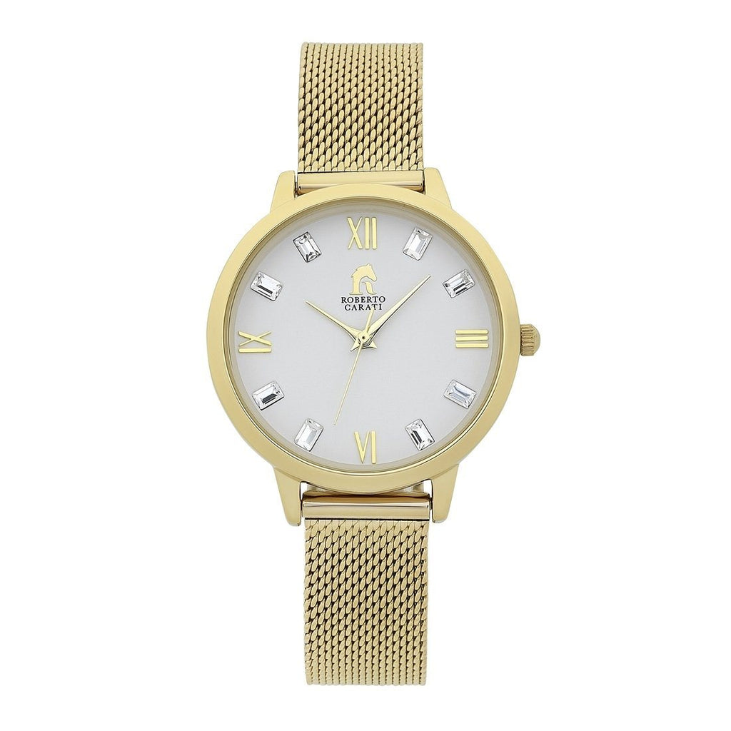 Roberto Carati Jersey Gold Watch