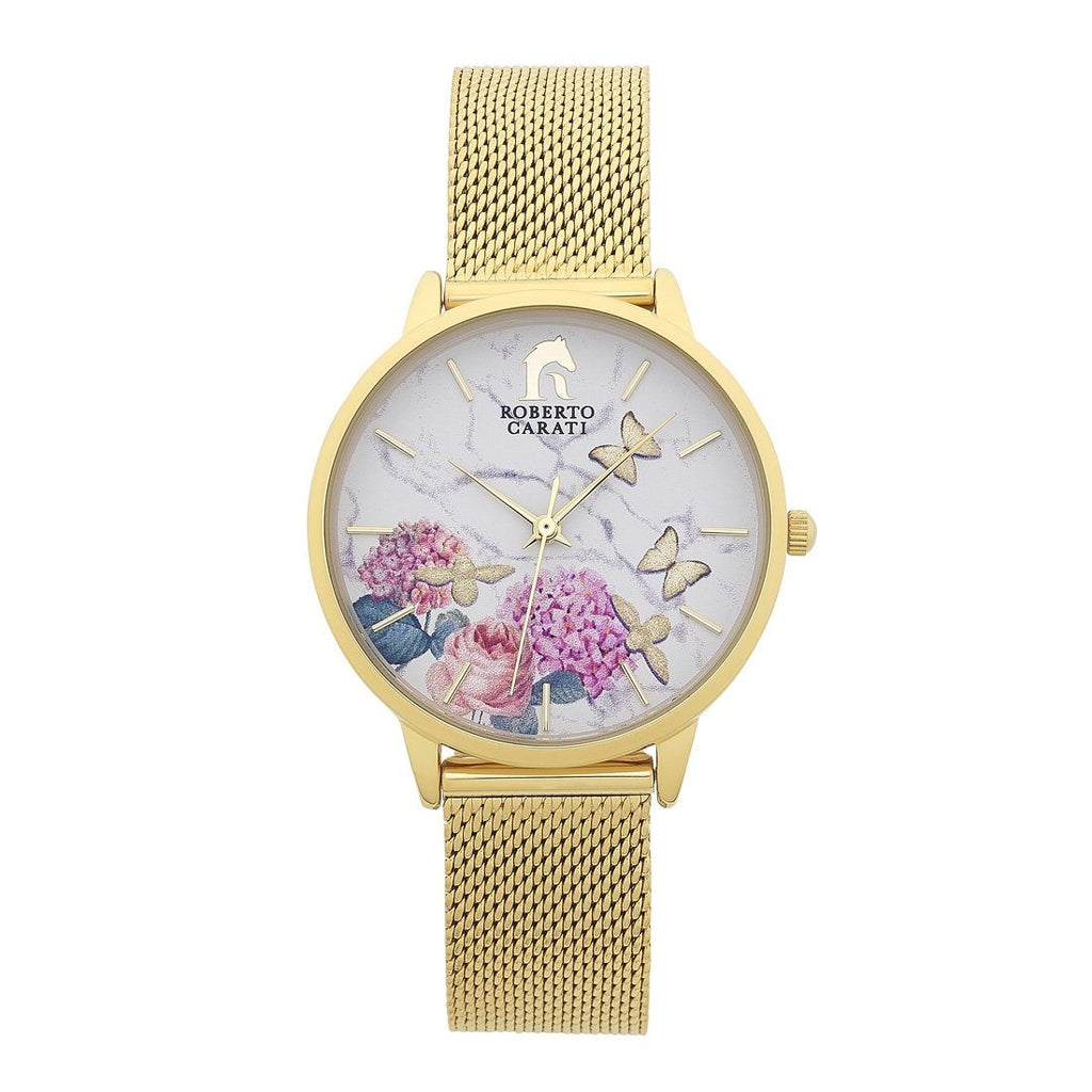 Roberto Carati Summer Spritz Gold Watch