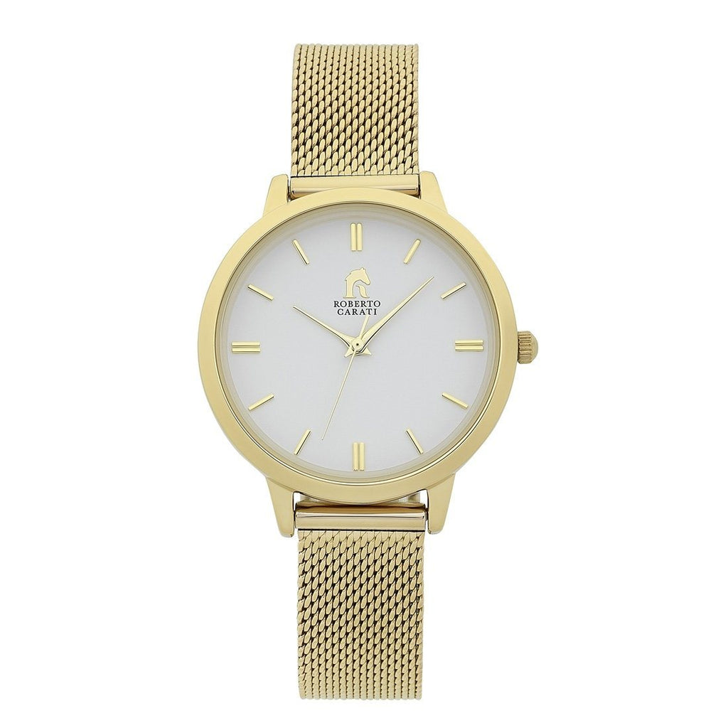 Roberto Carati Manhattan Gold Mesh Watch Watches Roberto Carati