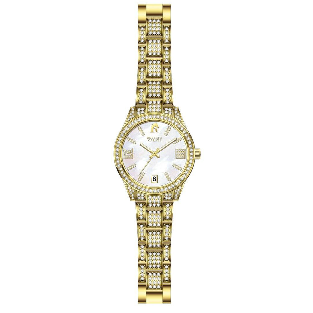 Roberto Carati Gemma Gold Mother of Pearl Crystal Watch Watches Roberto Carati