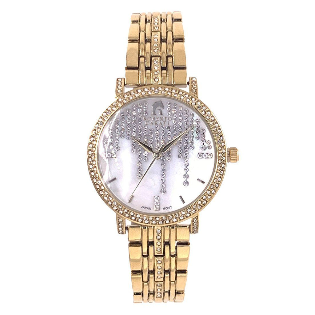 Roberto Carati Lauren Crystal Face Gold Watch Watches Bevilles Jewellers