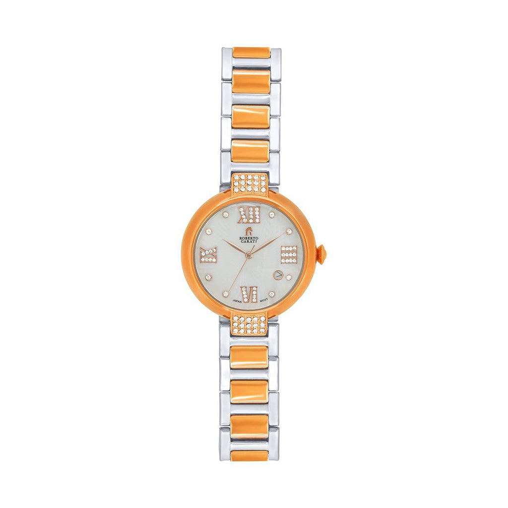 Roberto Carati Vanessa Two Tone Crystal Watch M9013-V5 Watches Roberto Carati