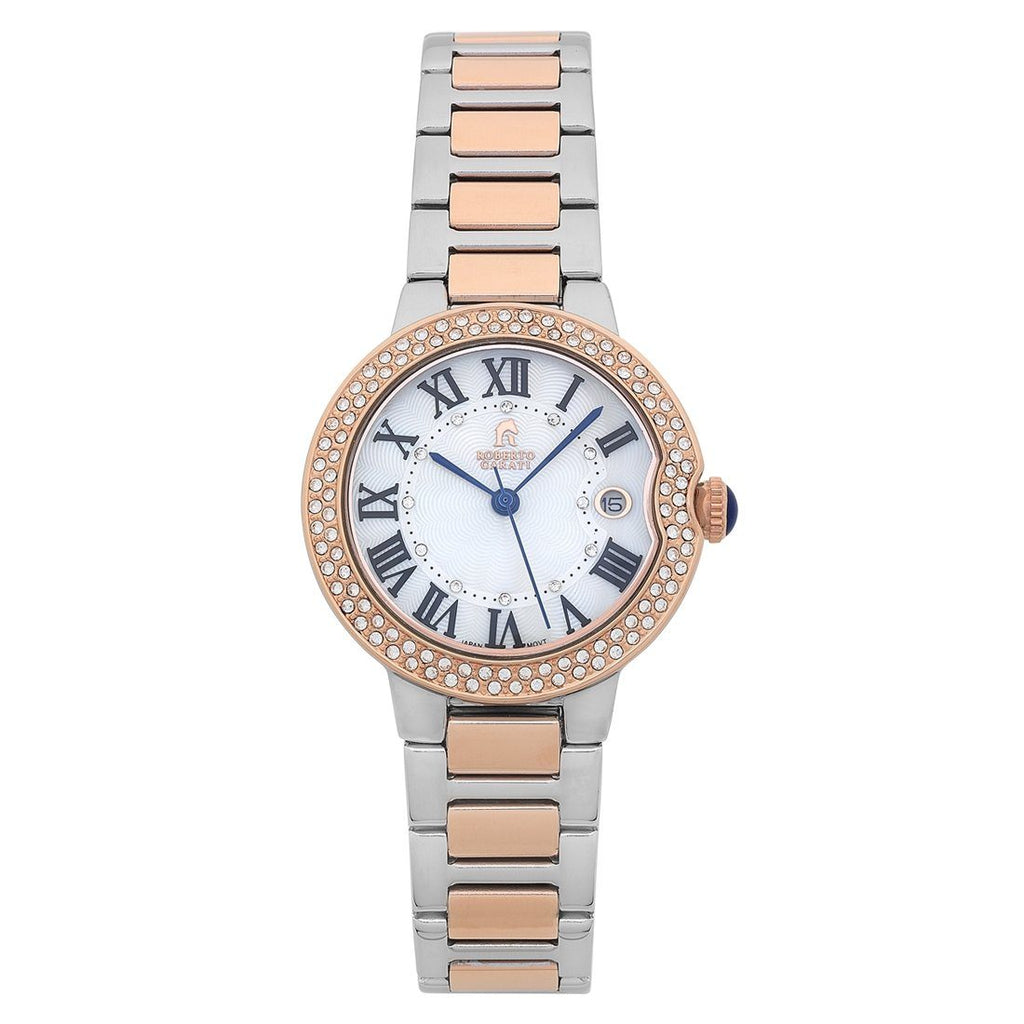 Roberto Carati Taylor Rose & Silver Stone Set Watch Watches Roberto Carati