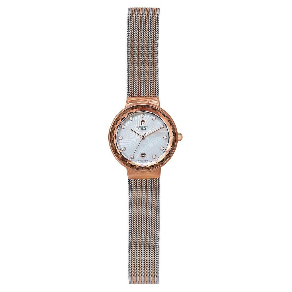 Roberto Carati Nora Two Tone Mesh Watch Watches Roberto Carati