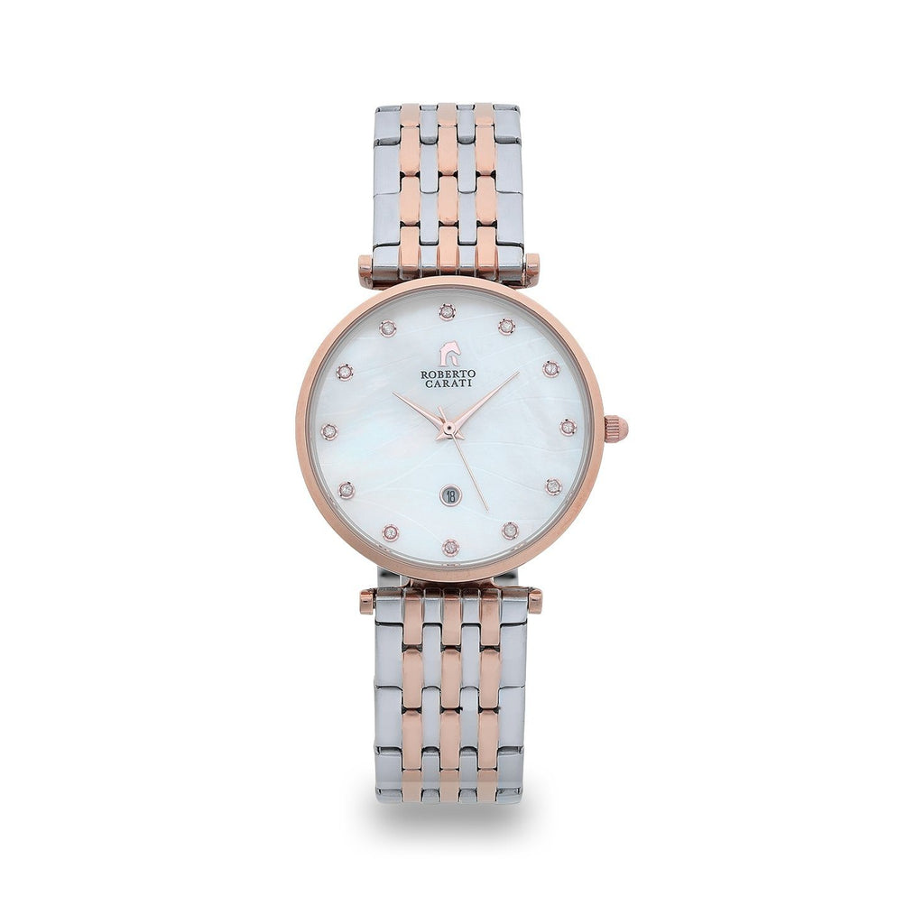 Roberto Carati Elizabeth Two Tone Diamond & Mother of Pearl Watch Watches Roberto Carati