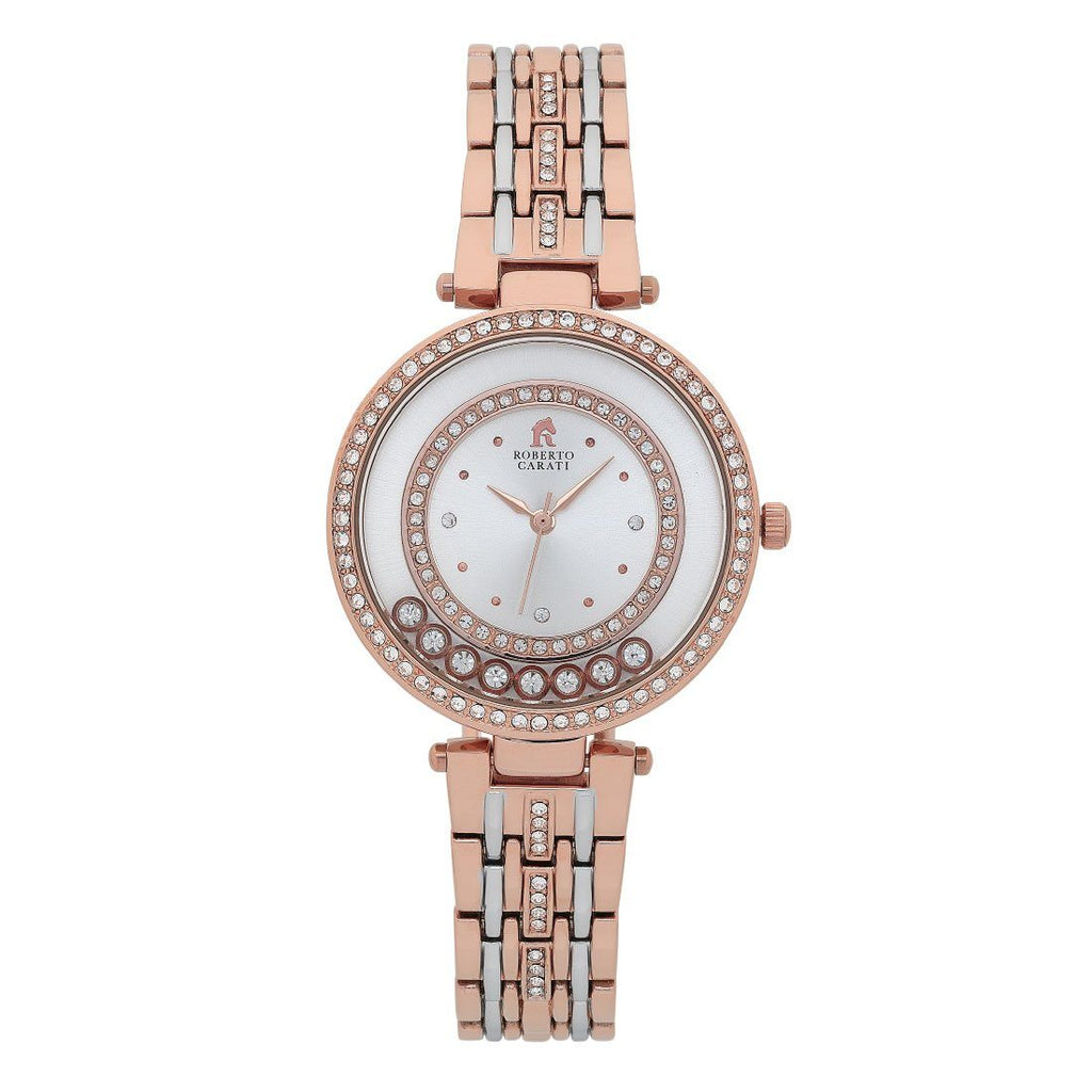 Roberto Carati Tora Two Tone Rose Lucky Rings Watch Watches Roberto Carati