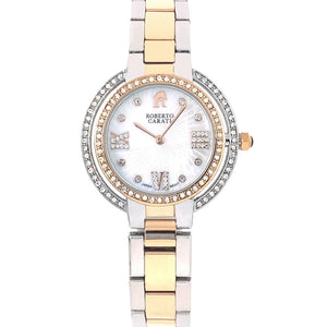 Roberto Carati Ambrosia Crystal Two Tone Rose Gold & Silver Watch