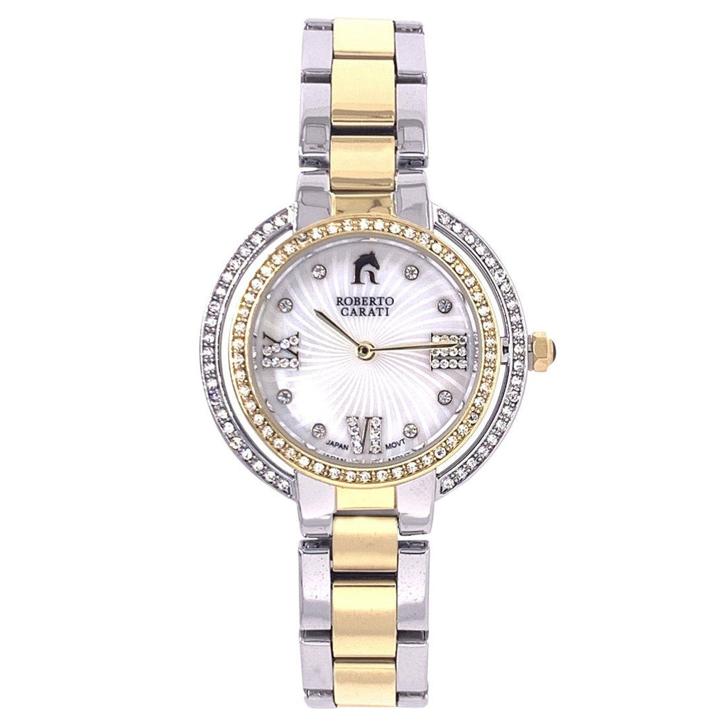 Roberto Carati Ambrosia Crystal Two Tone Gold & Silver Watch Watches Roberto Carati