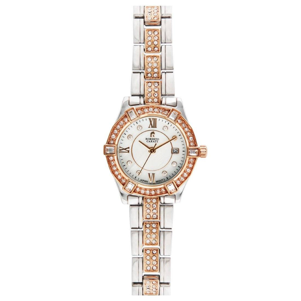 Roberto Carati Kennedy Crystal Rose & Silver Watch Watches Roberto Carati
