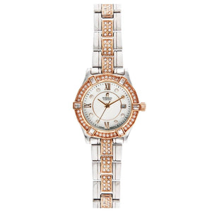 Roberto Carati Kennedy Crystal Rose & Silver Watch