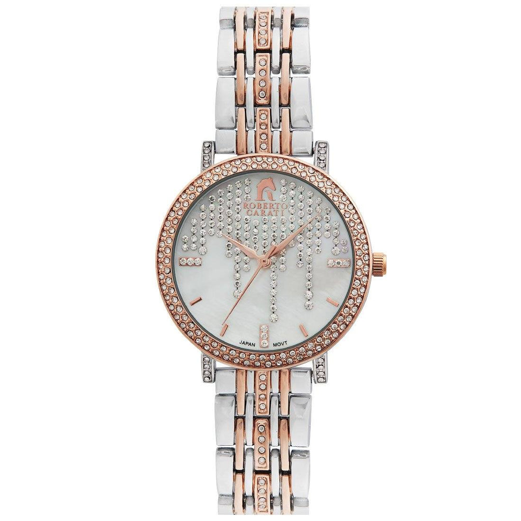 Roberto Carati Lauren Crystal Face Gold & Rose Watch Watches Roberto Carati