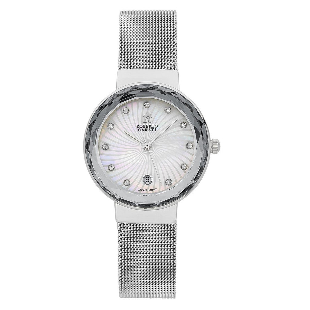 Roberto Carati Nora Silver Mesh Ladies Watch Watches Roberto Carati