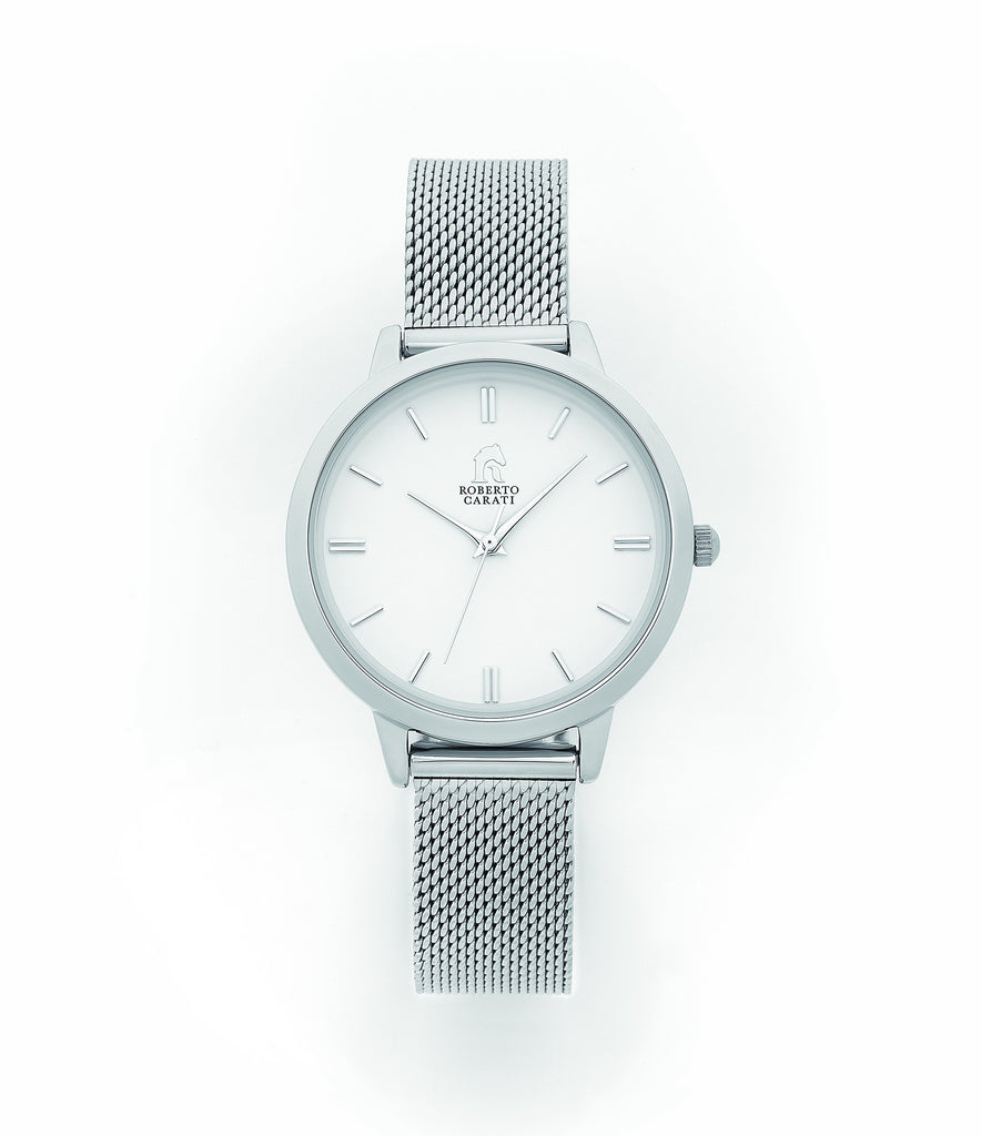 Roberto Carati Ladies Manhattan Silver Mesh Watch