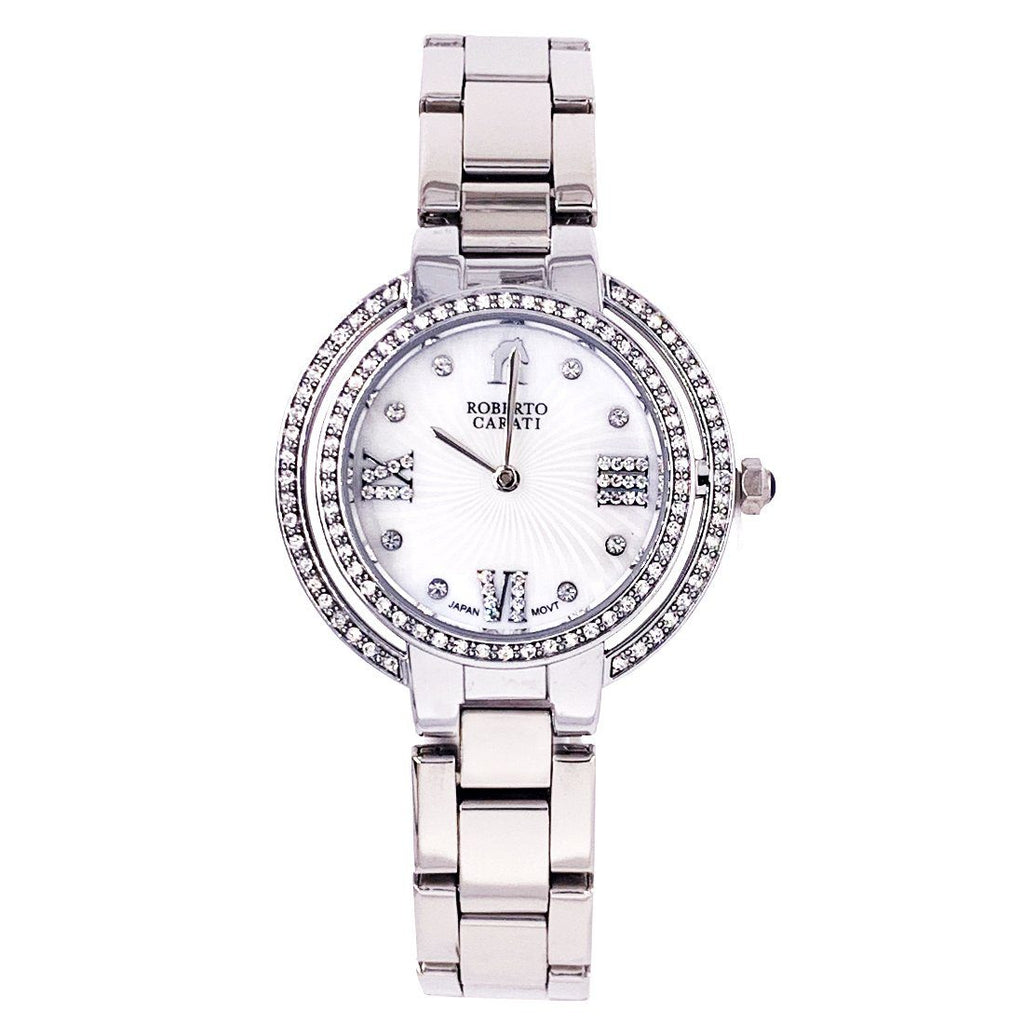 Roberto Carati Ambrosia Crystal Mother of Pear Silver Watch Watches Roberto Carati