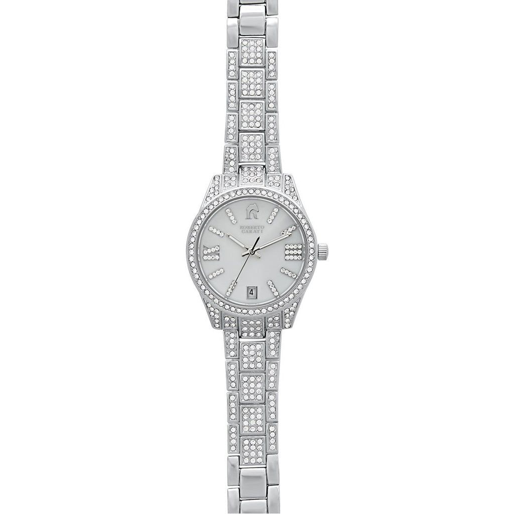 Roberto Carati Gemma Silver Mother of Pearl Crystal Watch Watches Roberto Carati