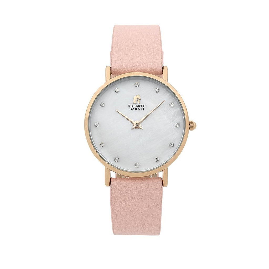 Roberto Carati Pink Leather Band Watch PW772-V1 Watches Roberto Carati