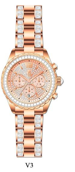 Roberto Carati Willow Crystal Rose Gold Watch