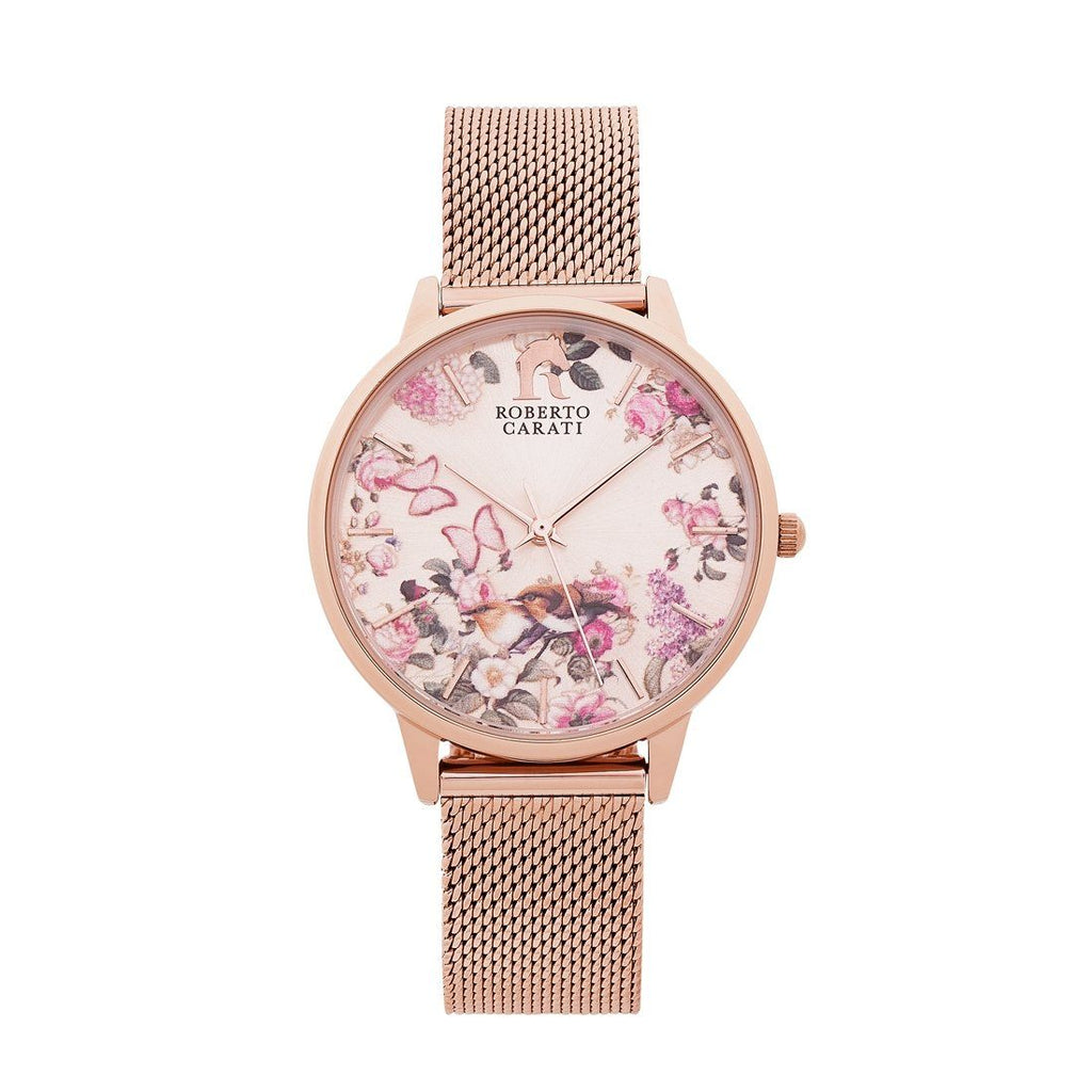 Roberto Carati Rose Gold Harper Floral Butterfly Watch AW535-V3 Watches Roberto Carati