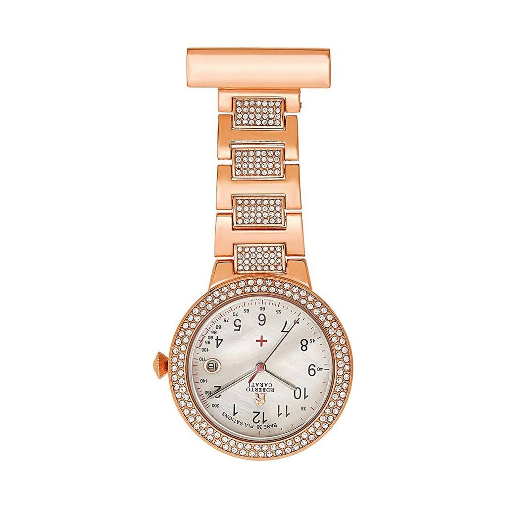 Roberto Carati Florence Rose Gold Crystal Nurses Watch Watches Roberto Carati