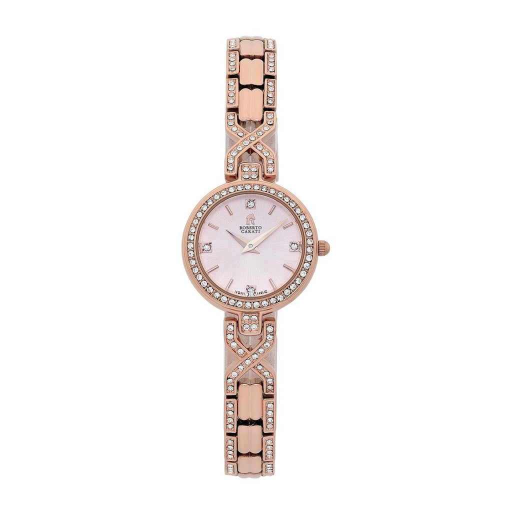 Roberto Carati Indii Ladies Rose Tone Watch Watches Roberto Carati