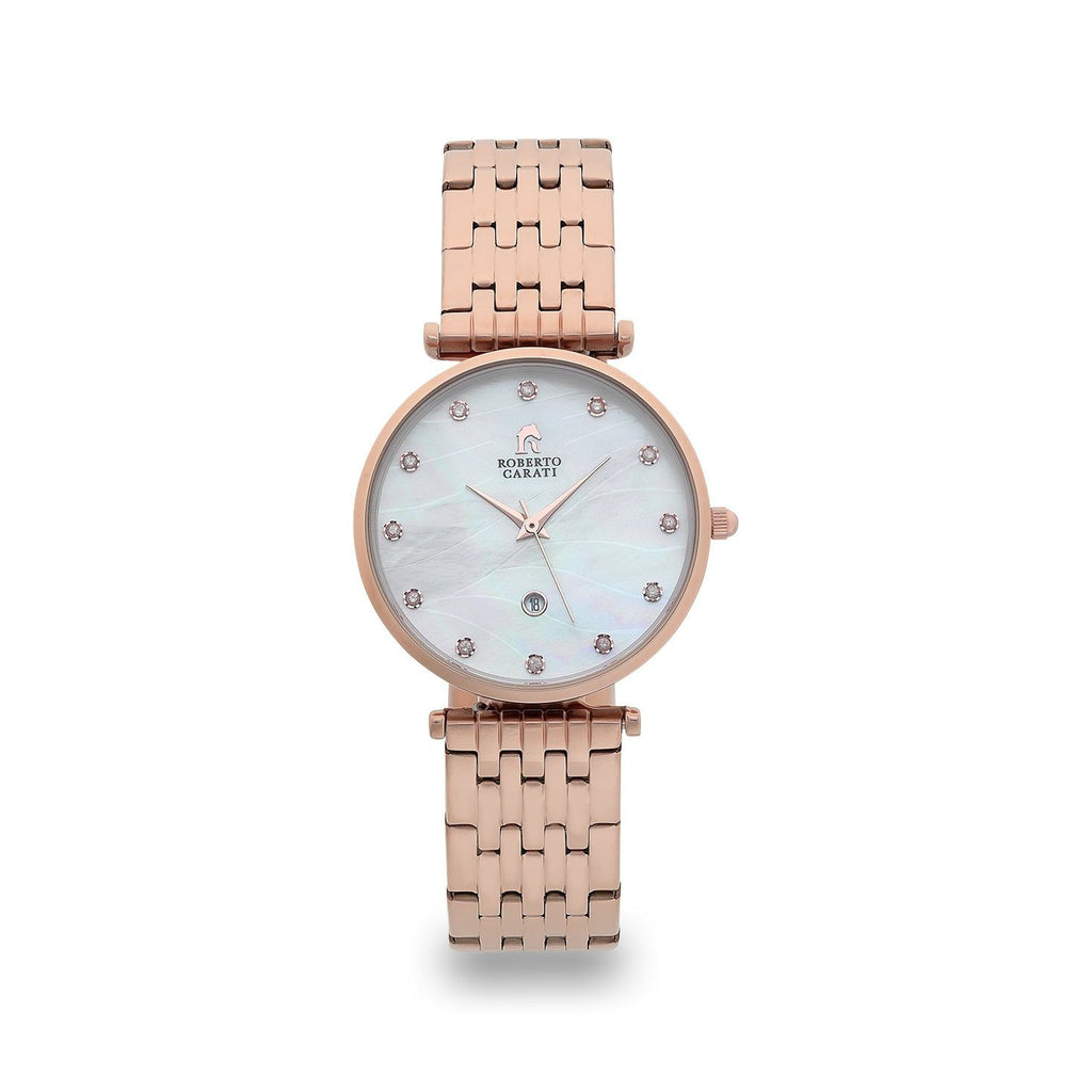 Roberto Carati Elizabeth Diamond Face Rose Gold Watch