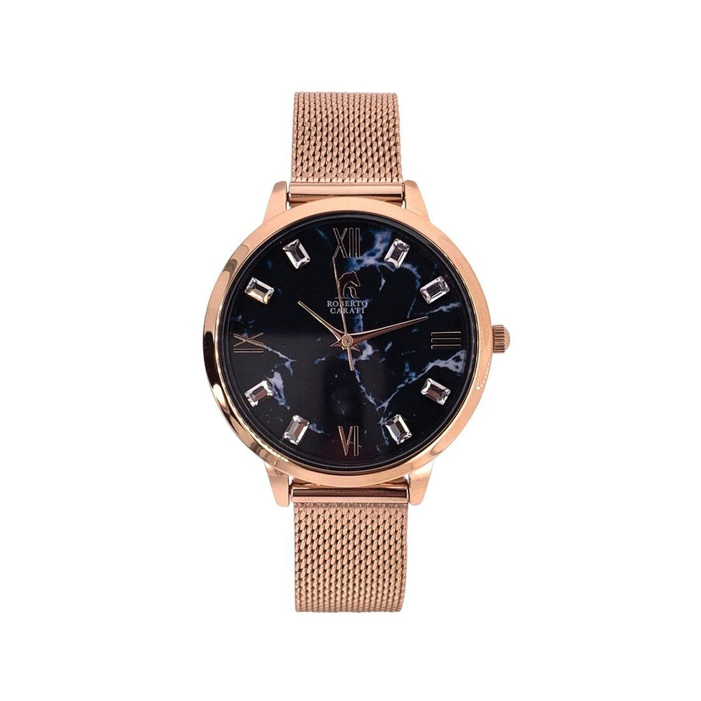 Roberto Carati Jersey Rose & Black Marble Watch