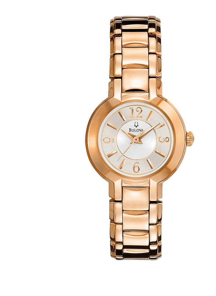 Bulova Ladies Rose Watch Model- 97L122 Watches Bevilles