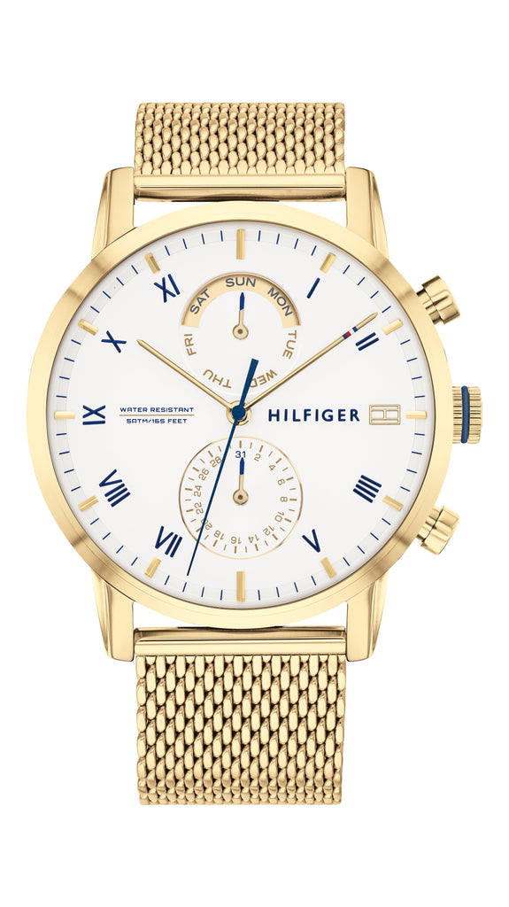 Tommy Hilfiger Kane Multifunction Gold Watch 1710403 Watches Tommy Hilfiger