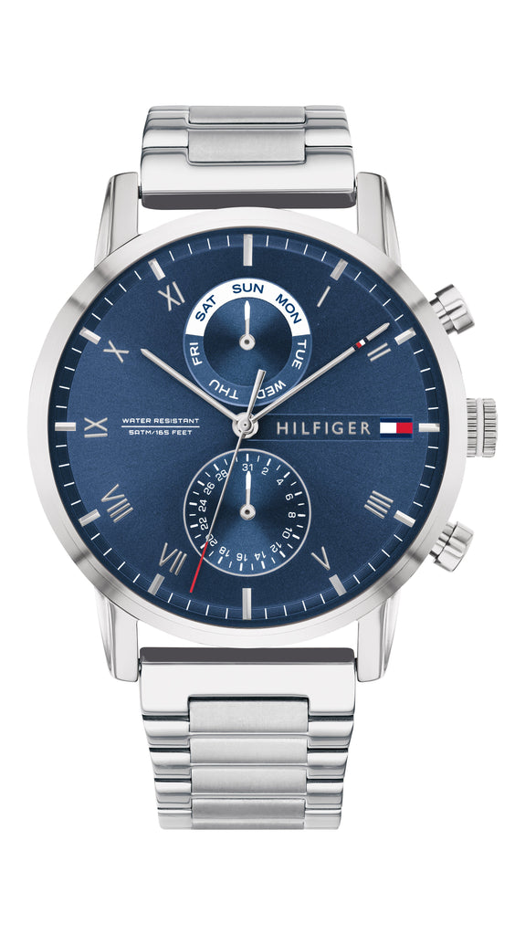 Tommy Hilfiger Kane Blue Silver Watch 1710401