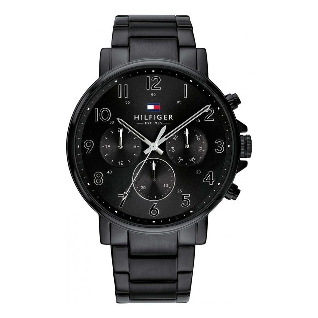 Tommy Hilfger Daniel Black Multifunction Watch Model 1710383