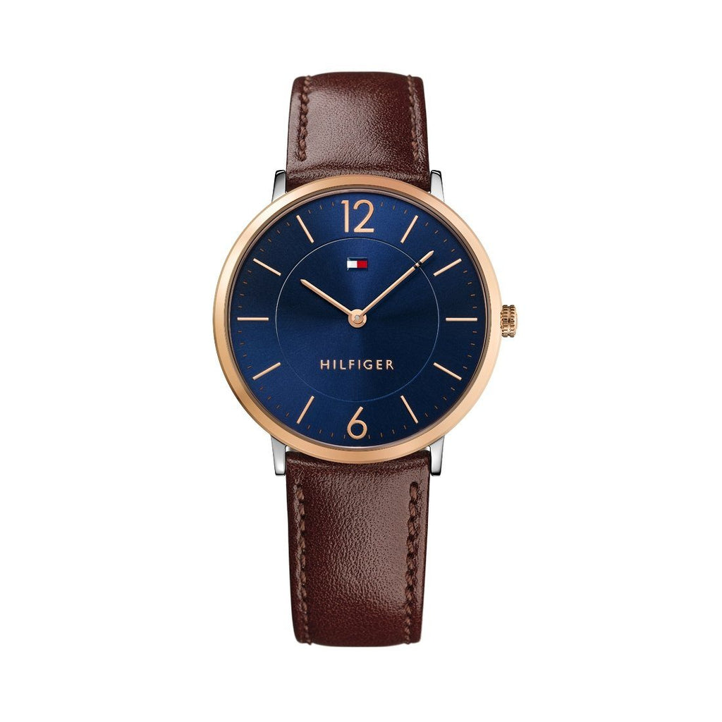 Tommy Hilfiger Ultra Slim Brown Leather Watch 1710354