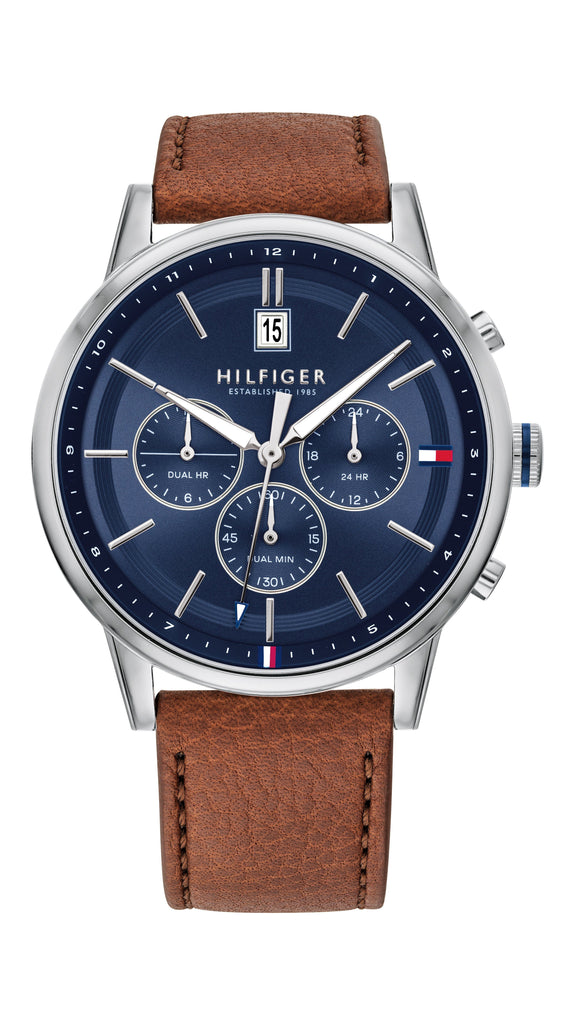 Tommy Hilfiger Kyle Blue Brown Watch 1791629 Watches Tommy Hilfiger