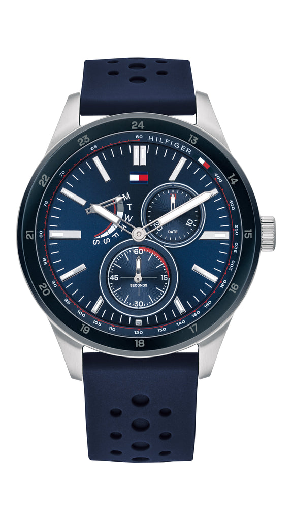 TOMMY HILFIGER AUSTIN BLUE FACE SILICONE STRAP Watches Tommy Hilfiger