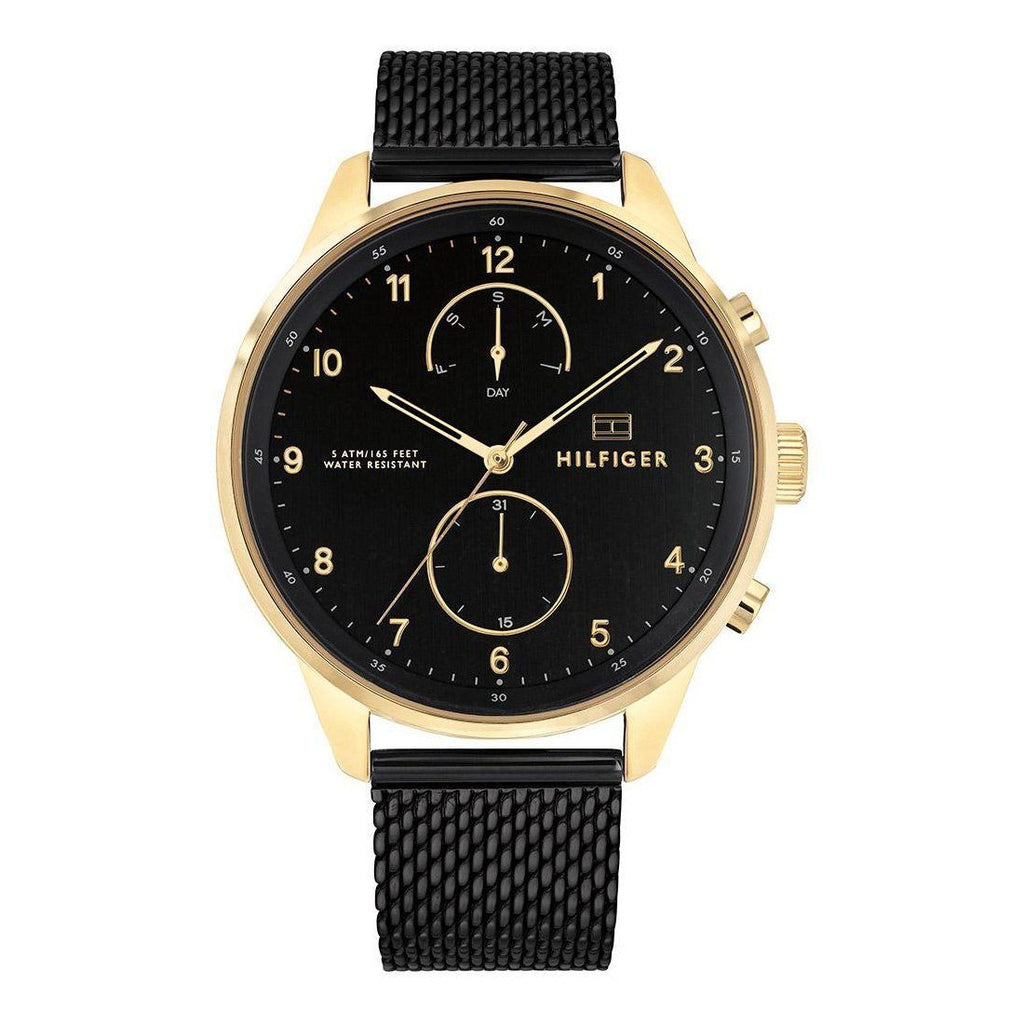 Tommy Hilfiger Men's Chase Black Mesh Watch Model 1791580